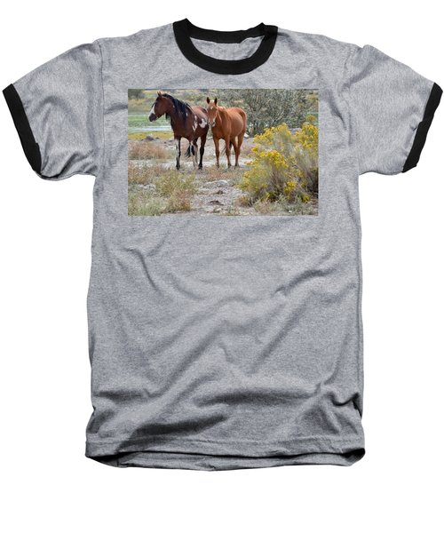 Stallion And Mare Baseball T-Shirt