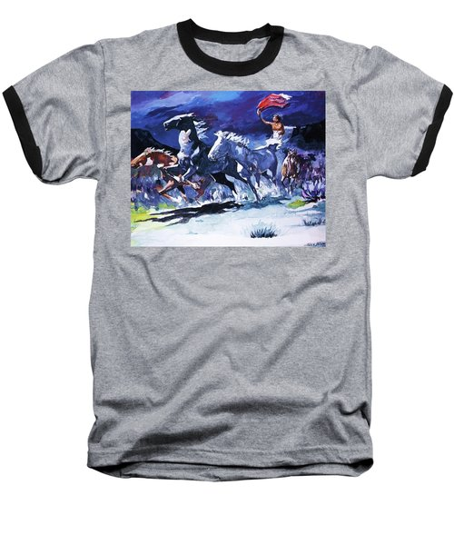 Stampede By Moonlight Baseball T-Shirt