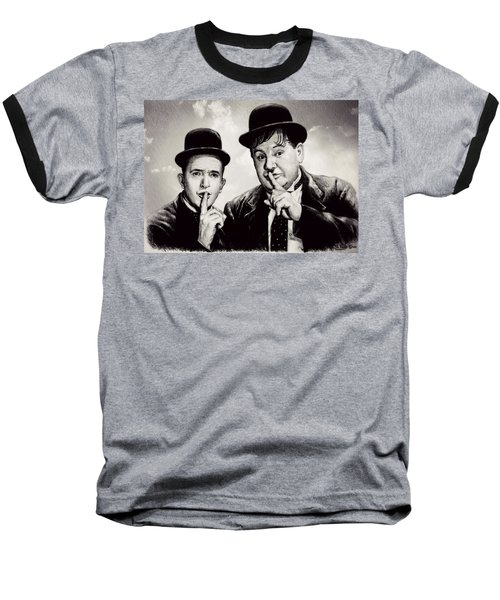 Stan And Ollie Comedy Duos Baseball T-Shirt