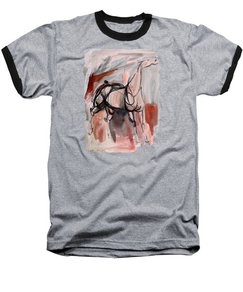 Baseball T-Shirt featuring the mixed media Stand Alone Bold One by Mary Armstrong