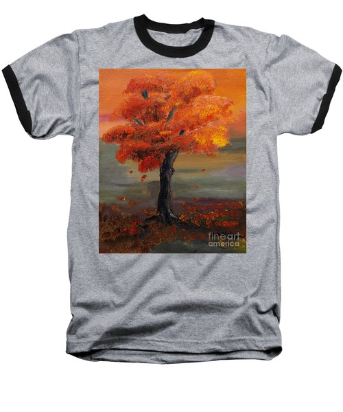 Stand Alone In Color - Autumn - Tree Baseball T-Shirt