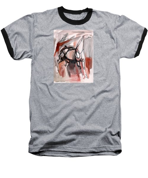 Baseball T-Shirt featuring the painting Stand Alone by Mary Armstrong