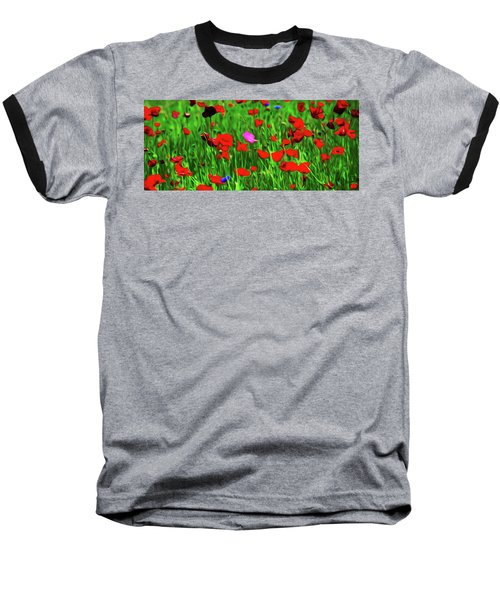 Baseball T-Shirt featuring the digital art Stand Out by Timothy Hack