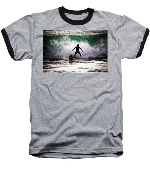 Baseball T-Shirt featuring the photograph Standby Surfer by Jim Albritton