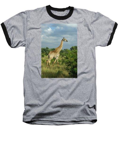 Standing Alone - Giraffe Baseball T-Shirt