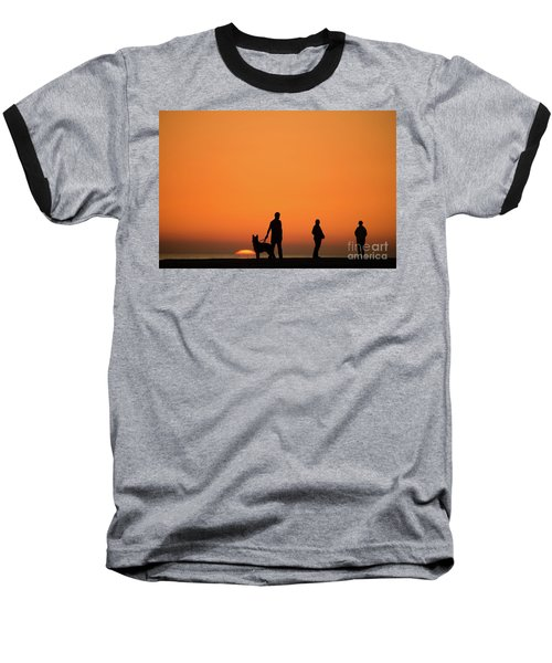 Standing At Sunset Baseball T-Shirt