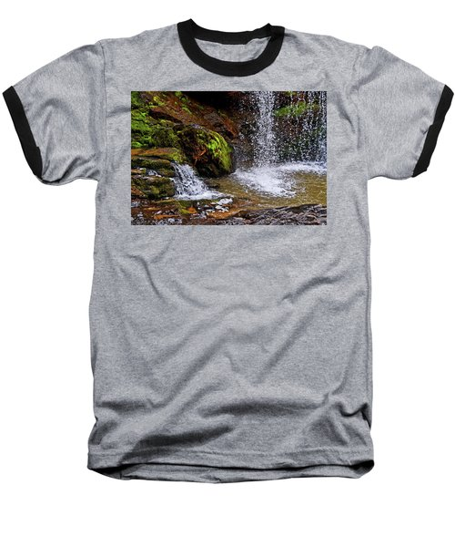 Standing In Motion - Brasstown Falls 011 Baseball T-Shirt by George Bostian