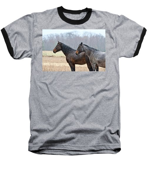 Baseball T-Shirt featuring the photograph Standing In The Rain 1281 by Michael Peychich