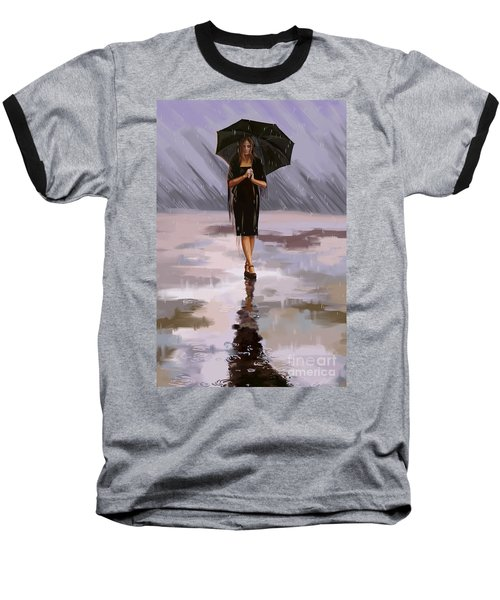 Standing-in-the-rain Baseball T-Shirt