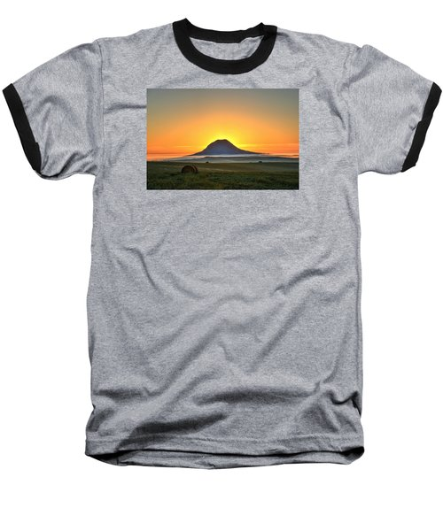 Standing In The Shadow Baseball T-Shirt by Fiskr Larsen