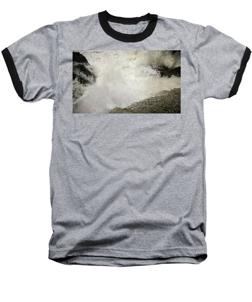 Standing On A Waterfall Baseball T-Shirt