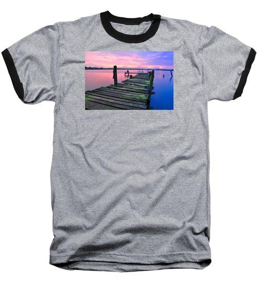 Standing On A Wooden Bridge Baseball T-Shirt