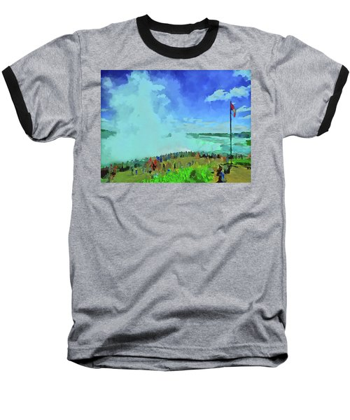 Standing On The Brink Baseball T-Shirt