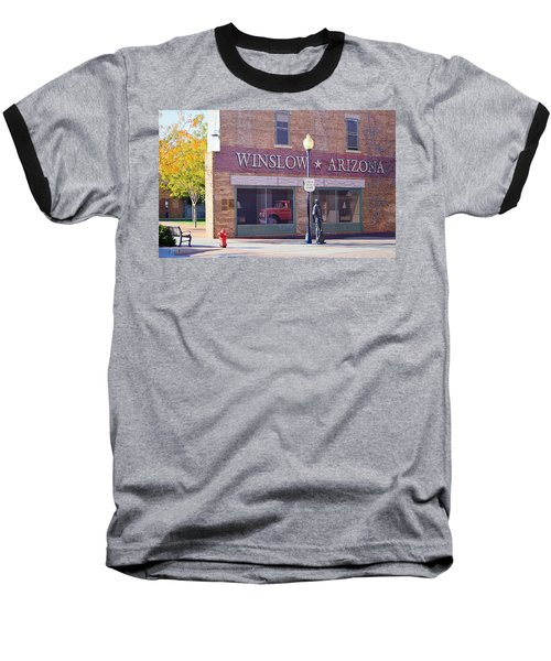 Baseball T-Shirt featuring the photograph Standing On The Corner by AJ Schibig