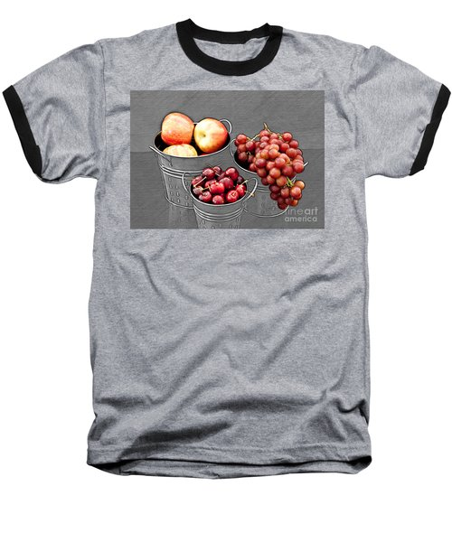 Baseball T-Shirt featuring the photograph Standing Out As Fruit by Sherry Hallemeier