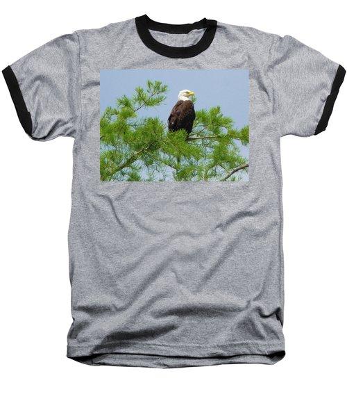 Standing Proud Baseball T-Shirt by Kimo Fernandez