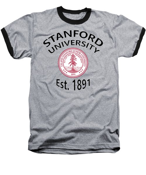 Baseball T-Shirt featuring the digital art Stanford University Est 1891 by Movie Poster Prints