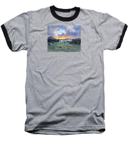 Stanley Hotel Sunset Baseball T-Shirt
