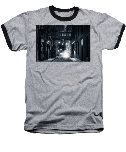 Staple Street Skybridge By Night Baseball T-Shirt