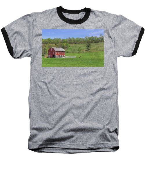 Star And Moon Barn Baseball T-Shirt