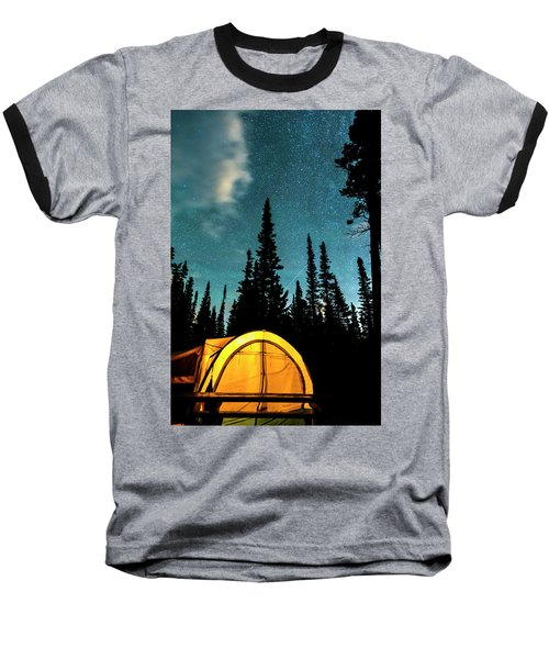 Baseball T-Shirt featuring the photograph Star Camping by James BO Insogna