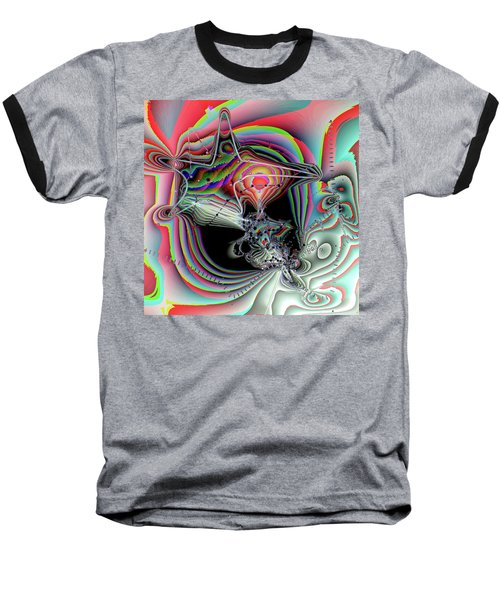 Baseball T-Shirt featuring the digital art Star Defomation by Ron Bissett