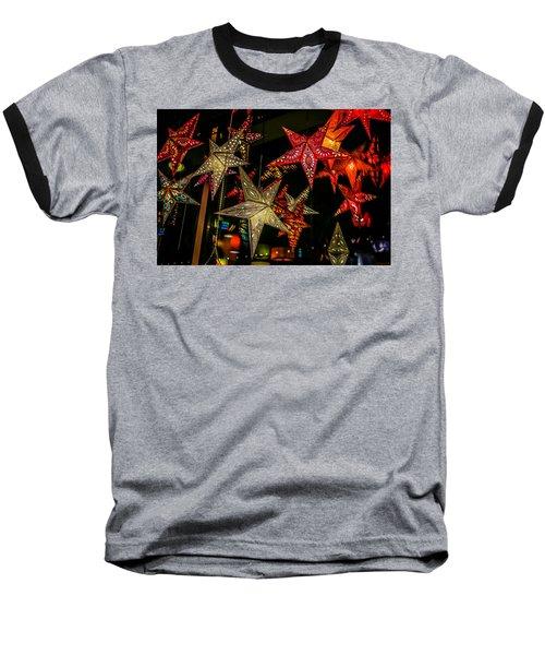 Baseball T-Shirt featuring the photograph Star Lights by Lora Lee Chapman