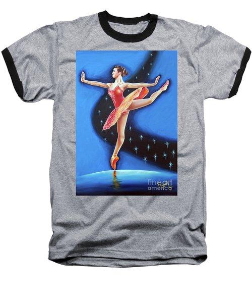 Star Night Baseball T-Shirt by Ragunath Venkatraman
