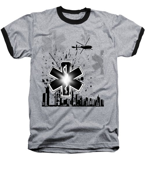 Star Of Life Graphic Baseball T-Shirt by Melissa Smith