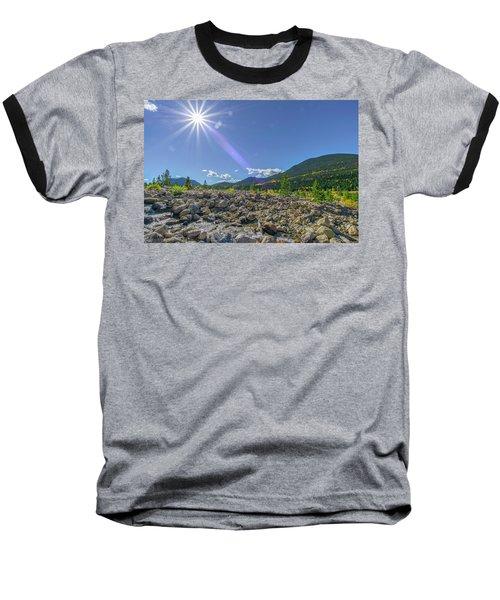 Star Over Creek Bed Rocky Mountain National Park Colorado Baseball T-Shirt