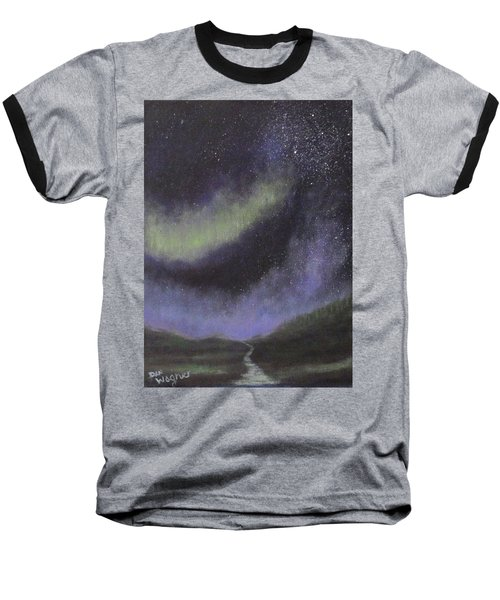 Baseball T-Shirt featuring the painting Star Path by Dan Wagner