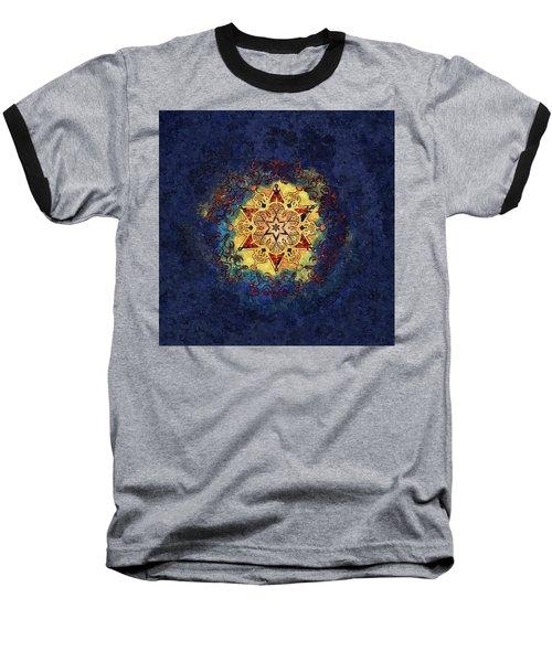 Star Shine Blue And Gold Baseball T-Shirt
