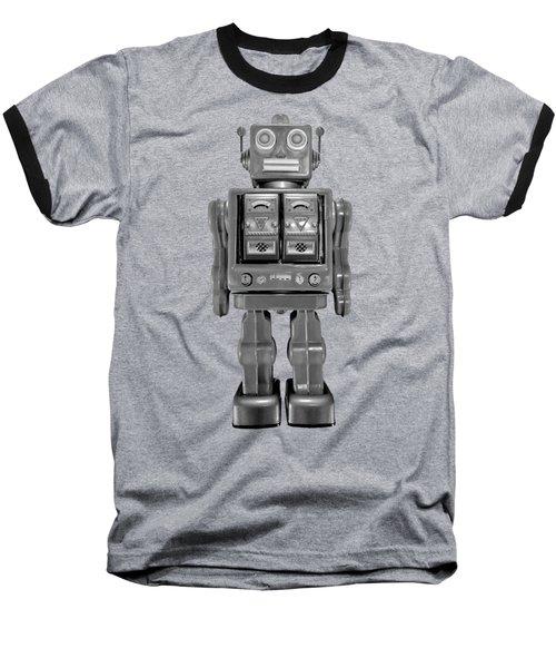 Star Strider Robot Red Bw Baseball T-Shirt