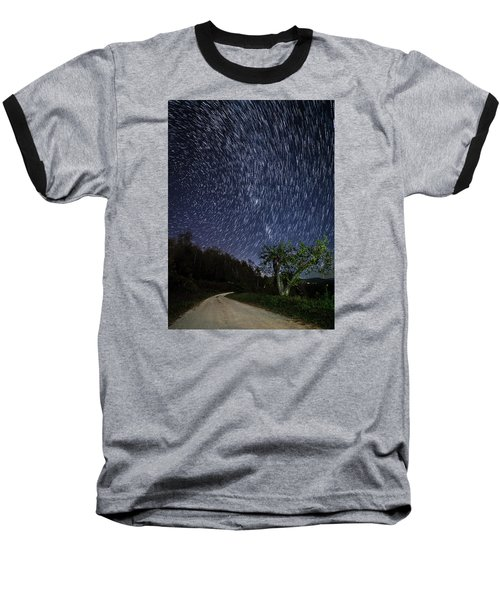 Baseball T-Shirt featuring the photograph Star Trail Over The Blue Ridge by Serge Skiba