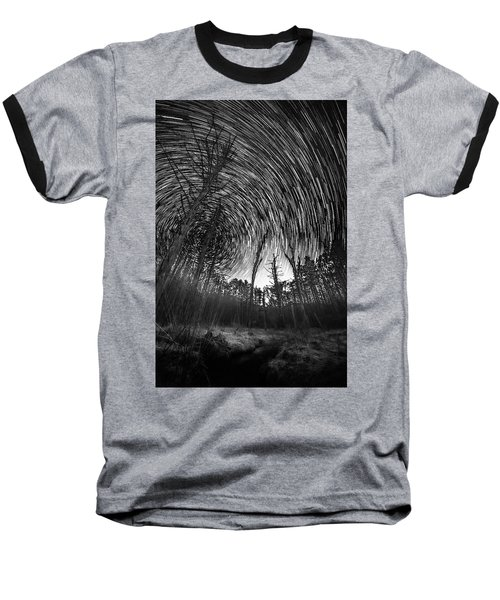Star Trails - Blue Ridge Parkway Baseball T-Shirt