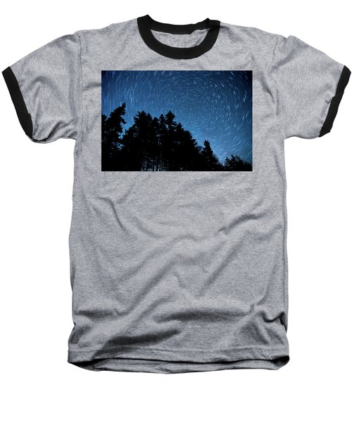Star Trails In Acadia Baseball T-Shirt
