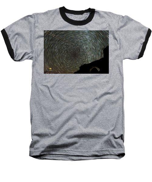 Star Trails Baseball T-Shirt