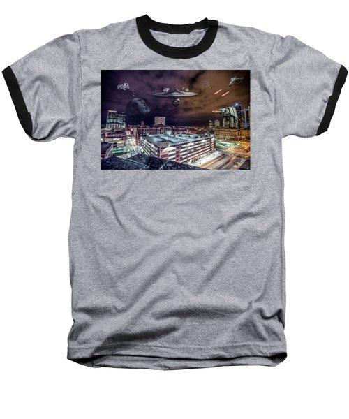 Baseball T-Shirt featuring the photograph Star Wars Detroit by Nicholas Grunas