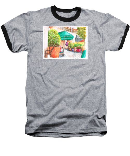 Starbucks Coffee, Sunset Blvd, And Cresent High, West Hollywood, Ca Baseball T-Shirt by Carlos G Groppa