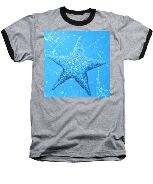 Starfish In Blue Baseball T-Shirt