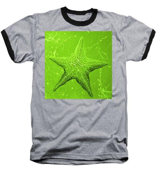 Starfish In Green Baseball T-Shirt