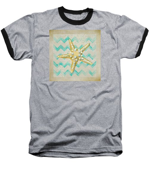Starfish In Modern Waves Baseball T-Shirt