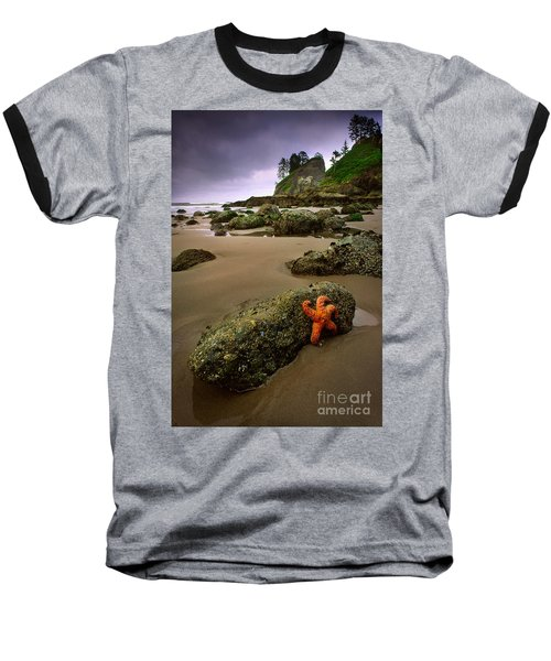 Starfish On The Rocks Baseball T-Shirt