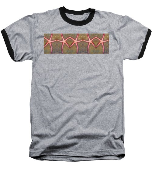 Starfish Pattern Bar Baseball T-Shirt