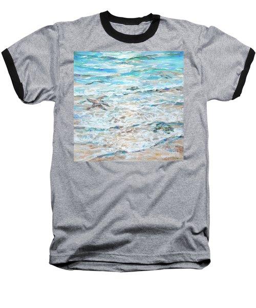 Starfish Under Shallows Baseball T-Shirt