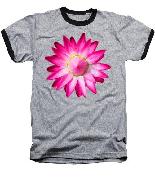 Starflower Opening  Mandala Baseball T-Shirt