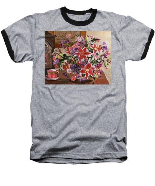 Stargazer Lilies Baseball T-Shirt