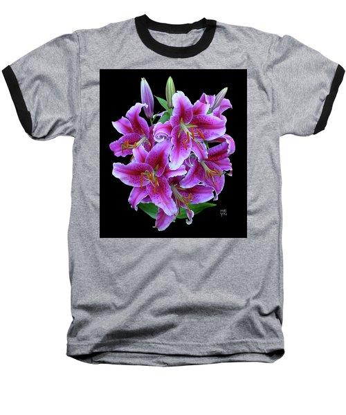 Stargazer Lily Cutout Baseball T-Shirt