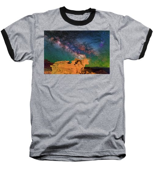 Stargazing Bull Baseball T-Shirt