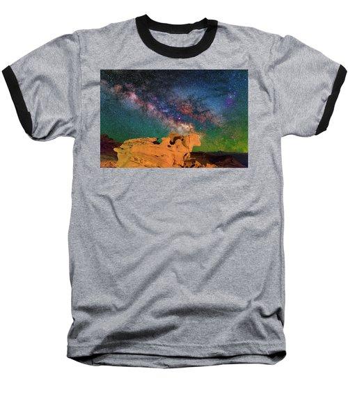 Stargazing Bull Baseball T-Shirt